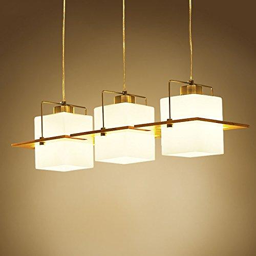 H.L Lampen im japanischen Stil, Wohnzimmer-Lampe 3 führte helle hölzerne hölzerne Leuchter H/l Lampe
