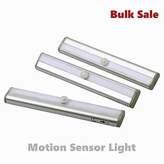 Amazlab LED-Nachtlicht mit Bewegungssensor, klein, tragbar, praktisch, ideal für Badezimmer, Flur, Keller, Flur, Büro und Zuhause, Mehrzweck, über Schlüssellöcher, Lichtschalter, als Stufenlichter. weiß