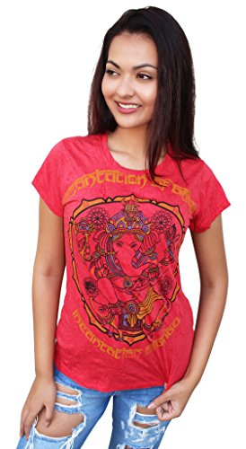 Yoga Tees - Omtimistic Donna Dio indù Ganesh simbolo OM Magliette Medium