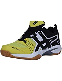 Fashion7 Men s Synthetic Leather Badminton Shoes - Lightweight with Good  Cushioning Traction   Grip (Yellow c2dbe0c44