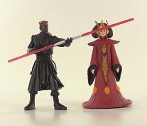 Star Wars Lots de 2 Figurines Portes Clés Série 1 Reine Amidala , Darth Maul