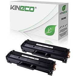 2 Kineco XXL Toner (150% mehr Inhalt!) kompatibel zu Samsung MLT-D111S für Samsung M2026W, M2022W, M2022, M2070W, M2070FW, M2020, M2000 - MLTD111S/ELS Schwarz je 2.500 Seiten