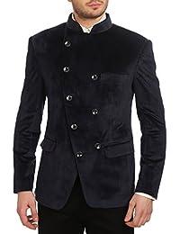 9fc946d5b Wintage Men s Velvet Grandad Collar Blazer