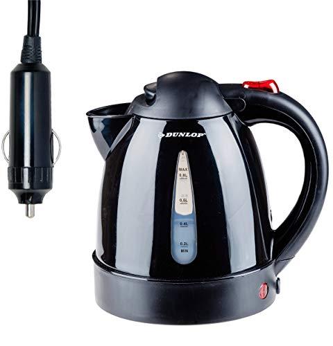 Dunlop Wasserkocher 24 Volt - 0,8 Liter/ 24V -geeignet für Wohnwagen,LKW,Boot mit 24 Volt Anschluss