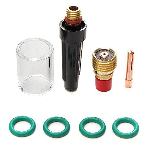 MASUNN 8 Pcs Torche De Soudage À Gaz Lentille De Verre Kit Tasse pour Tig Wp-9/20/25 Série 0.04 inch