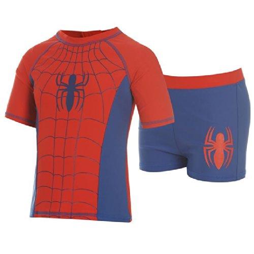 Marvel-Spiderman-2-Piece-Swim-Suit-Set-Top-Shorts-Childs-Boys-Navy-Swimwear