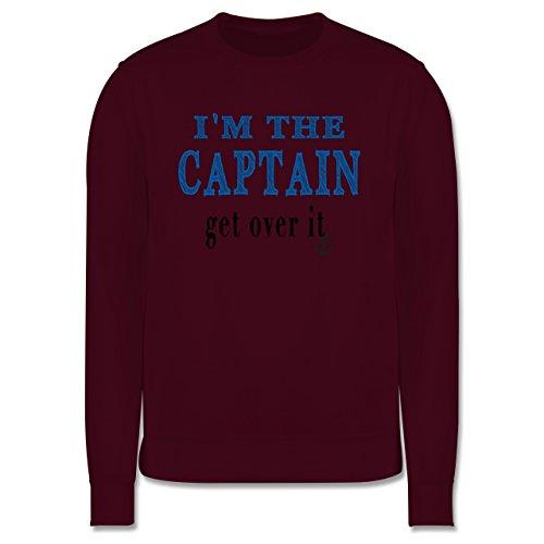 Schiffe - I'M THE CAPTAIN - get over it - Herren Premium Pullover Burgundrot