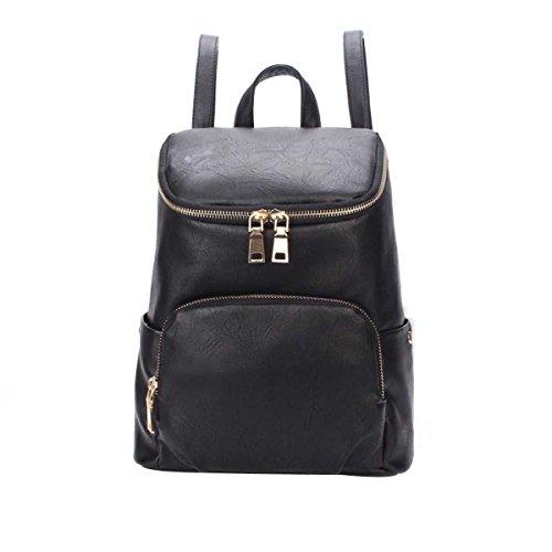 Frauen Mode Schultertasche College Wind Freizeit Reisetaschen Schultaschen Black