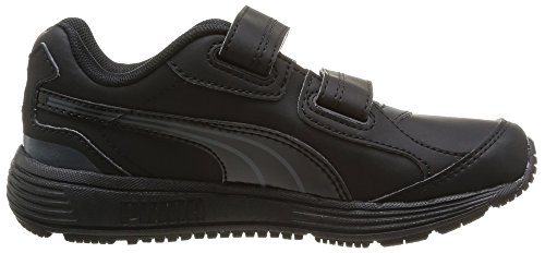 Puma Descendant Sl Kids, Baskets mode mixte bébé Noir (Black/Black/Black)