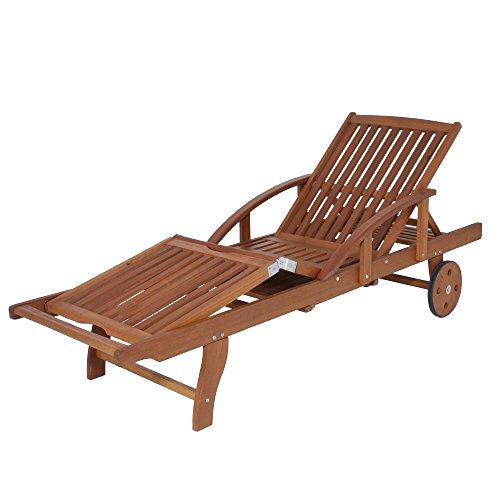 Garden Pleasure Sonnenliege Garten Liege Eukalyptus Holz Gartenliege Liegestuhl Gartenmöbel