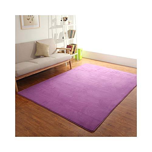 ZI LING SHOP- Teppiche, rechteckige waschbar Korallen Samt dekorative Teppich Wohnzimmer Schlafzimmer und Badezimmer rug ( Farbe : A , größe : 140cmx200cm )