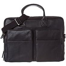VON HEESEN Echtleder Businesstasche Laptoptasche bis 15,6 Zoll - MADE IN ITALY - Aktentasche mit Laptopfach Ledertasche Umhängetasche Messenger-Bag Notebooktasche für Damen & Herren