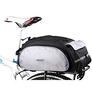 DCCN Alforja para Bicicleta, Impermeable, Color Negro, 13L