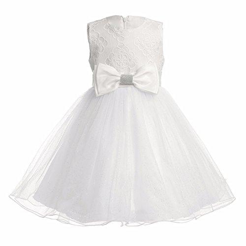 iEFiEL Baby Mädchen Taufkleid Blumenmädchen Prinzessin Hochzeit Festlich Kleid Festzug Kleidung, 62-68 (Baby-taufe Kleid)