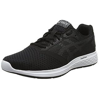 Asics Men's Patriot 10 Running Shoes, Black (Black/White 001), 11 UK (46.5 EU)