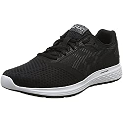 Asics Patriot 10 Zapatillas de Running Hombre, Multicolor (Black/White 001), 42 EU