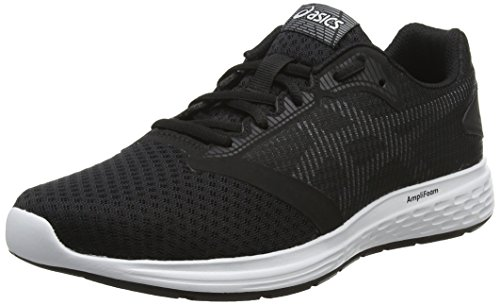 Asics PATRIOT 10, Herren Laufschuhe, Mehrfarben (Black/White 001), 44 EU - Asics Shoes Winter Running