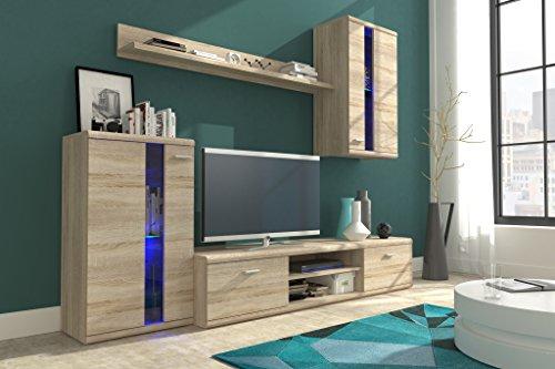 Popular Modern Living room Furniture Set Cupboard TV Stand Wall Mounted Cabinet (Oak Sonoma ( light wood effect ))