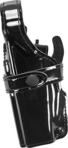 Safariland 070 Level III Retention Duty Holster, Mid-Ride, Black, High Gloss Left Hand, Glock 20, 21, 070-383-92