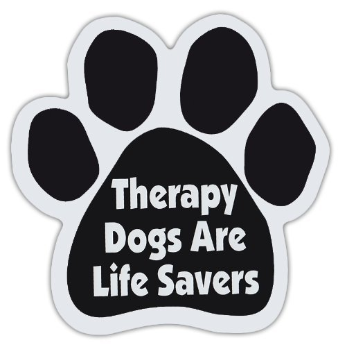 dog-paw-shaped-magnets-therapy-dogs-are-life-savers-dogs-gifts-cars-trucks-by-crazy-sticker-guy