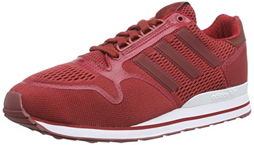 adidas Zx 500 Techfit, Low-Top Sneaker homme rouge (St Nomad Red S14/Power Red/Ftwr White)