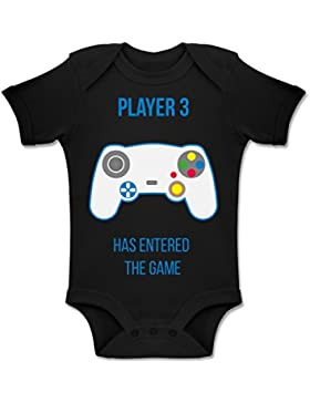 Shirtracer Up to Date Baby - Player 3 Has Entered The Game Controller weiß - Baby Body Kurzarm Jungen Mädchen