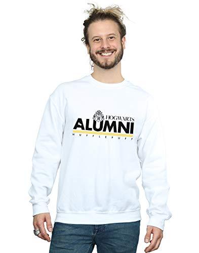Harry Potter Herren Hogwarts Alumni Hufflepuff Sweatshirt Weiß XX-Large