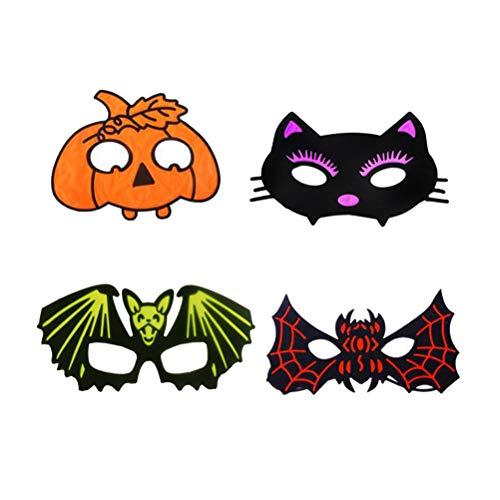 rtoon Halloween Augenmaske Cosplay Kostüm Kürbis Fledermäuse Katze Spinne Halloween Cosplay Kostüm für Halloween Maskerade Party Requisiten ()