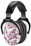 Ohrenschützer Verstellbar von ZOHAN, Hochwertiger Gehörschutz Kind Baby, Lärmschutz Kopfhörer Anti-Lärm bis NRR 22dB Lärmschutz, Ohrenschoner (Flamingo)