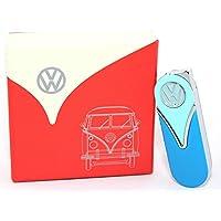 Originale Volkswagen Slim Accendino nella parte anteriore Shield design–In diversi colori–Set Regalo–Licenza ufficiale Volkswagen Slim Accendino in confezione regalo blue/light blue