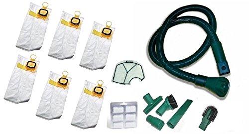 6 sacchetti + 6 profumi + 1 filtro motore + tubo e accessori folletto vk 140 150 200 no originale