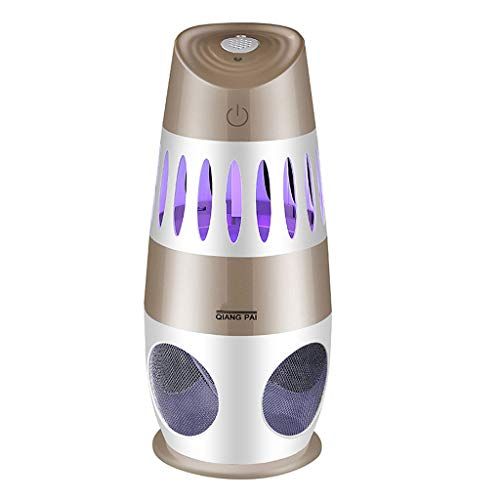 YQ&TL Starke Inhalation Intelligente Lichtsteuerung Physikalischer Moskito-Mörder Home Indoor Silent Mückenschutz Moskito Bug Zapper Lampe Fliegenklatsche LED-Licht, Gold