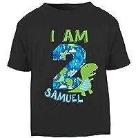 Personalised I am 2 Birthday T-shirt Dinosaur Second Birthday Top Children's Birthday Top Custom Girls Birthday Girls Second Birthday Dino