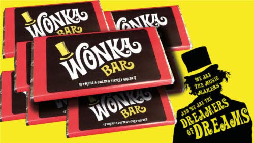 WILLY WONKA CHOCOLATE BAR WITH GOLDEN TICKET (100G CHOCOLATE BAR) BEST ON AMAZON