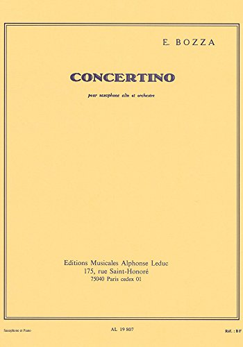 CONCERTINO SAXOPHONE MIB ET PIANO