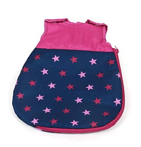 Bayer Chic 2000 794 72 - Saco de Dormir para muñecas, diseño de Estrellas, Color Rosa
