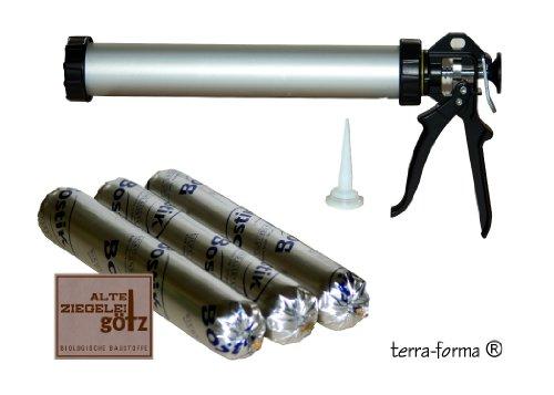 3 Stück Bostik 3071 Spritzkork Lösemittelfrei a 500 ml + 1 HAWE Handfugenpistole