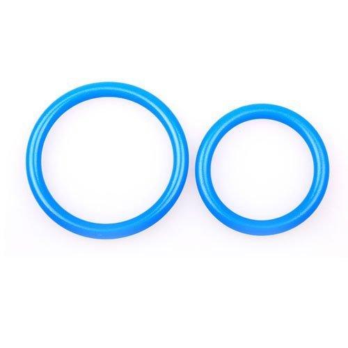 eeddoo® Silikon Penisringe & Cockringe – 2 Größen – blau (Penis Cock Pleasure Ring G-Punkt Stimulator Sexspielzeug für Männer & Frauen) - 2