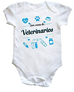 inseminación artificial gatos: HippoWarehouse Son Cosas de Veterinarios Body Bodys Pijama niños niñas Unisex