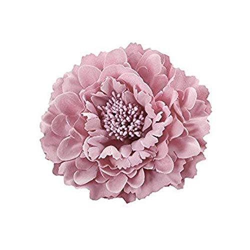 iKulilky Haarspange Damen,Blumen Haarschmuck,Blume Haarklammern Haarclip Brosche Strohhut Zubehör Kleid Zubehör für Hochzeit Badeurlaub - Pink # 3