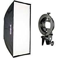 Phot-R professionale 70x100 cm chiusura ad ombrello Striscia Softbox con Bowens S Type Monte Speedring Studio Strobe Flash + S-Type Staffa per Flashgun