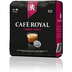 Café Royal Lungo Forte, 180 kompatible Pads für Senseo, 5er Pack (5 x 36 Pads)