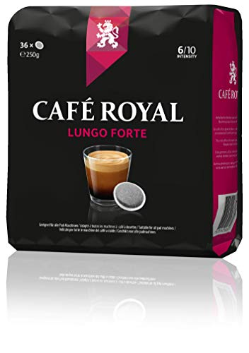 Café Royal Lungo Forte 180 kompatible Kaffeepads für Senseo (Intesität 8/10) 5er Pack (5 x 36 Kaffee-Pads)