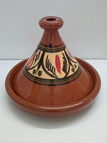 Étnico Colcha Tajín Tajín olla de terracota Cuscús Marroquí plato árabe Artesanal Ø34cm XL 1236