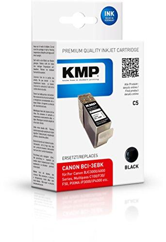 Preisvergleich Produktbild KMP Tintenkartusche für Canon BJC3000/6000Series, C5, black pigmented