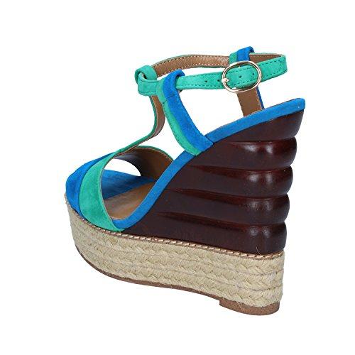 EMANUELLE VEE Sandales Pour Femme Blu Verde