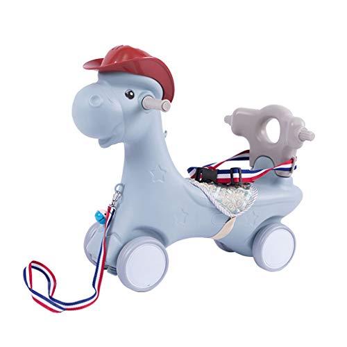 Caballo de Troya Caballo de balancín Juguete bebé Caballo de balancín de plástico de Doble...