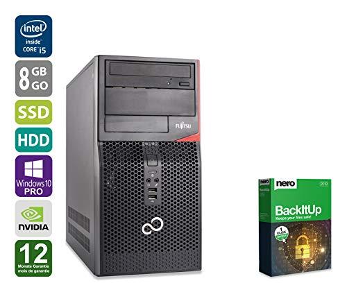 Gaming PC | Fujitsu Celsius W410 | Nvidia Geforce GTX 1050 | Intel Core i5-2400 @ 3,1 GHz | 8GB DDR3 RAM | 250GB SSD | 1000GB HDD | DVD-Brenner | Windows 10 Pro (Zertifiziert und Generalüberholt)