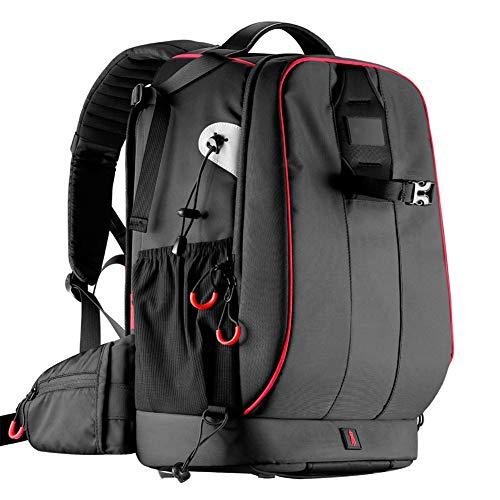 SCAML SLR-Kamerarucksack Große Kapazität Multifunktional Diebstahlsicherung Kameratasche Rucksack Mit Drohne Stoßfester, Wasserdichter Gürtel-Regenschutz Für Canon Nikon Sony