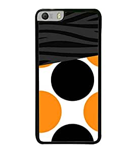 Fuson Orange Black Dotted Pattern Designer Back Case Cover for Micromax Canvas Knight 2 E471 (Ethnic Pattern Patterns Floral Decorative Abstact Love Lovely Beauty)